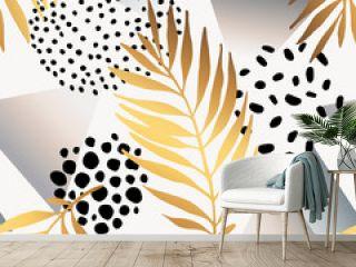 Abstract summer seamless pattern.