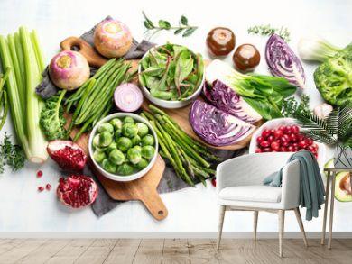 Seasonal vegetables for healthy cooking