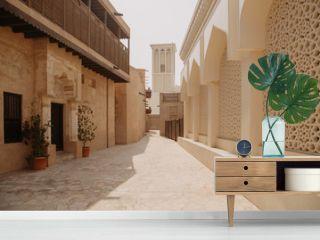 Old town in Al Fahidi Historical District. Dubai city, UAE
