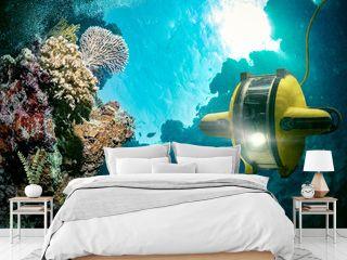 Underwater robot explores the deep sea