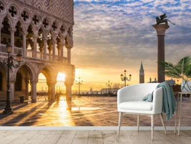Sunrise at the San Marco square in Venice, Italy
