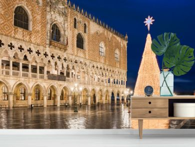 Christmas decorations in Venice, Italy