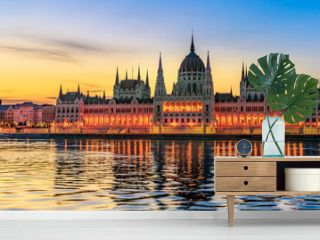 Hungarian Parliament Building by Morning Light (panoramic)