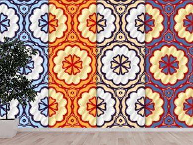 Set of Art-deco pattern. Seamless. Arabesque. vector illustration. For invitation wedding, valentine's, background, wallpaper
