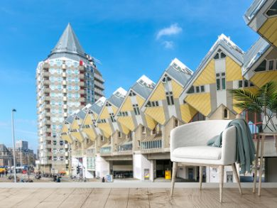 Cube houses designed by Piet Blom in Rotterdam  Netherlands.