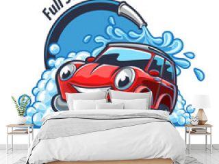 car wash illustration