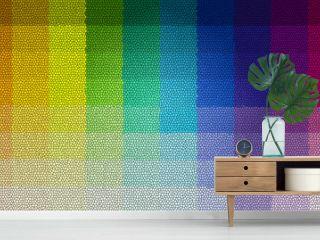 mosaïque chromatique, effet vitrail