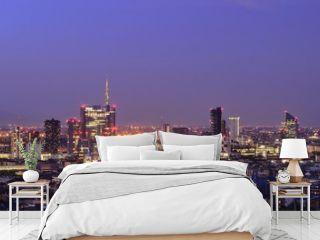 Milan skyline at night