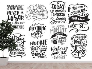 Motivation quote. Hand lettering modern illustration for your design.