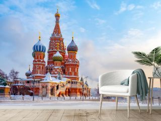 Moscow. Russia. The Red Square. Kremlin. St Basil's Church. Russian Federation. Travel to Russia. Temple on Red Square. Moscow in the winter. Center of Russia. Museums of Russia.
