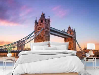 tower bridge in london at sunset London UK March