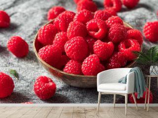 Raw Red Organic Raspberries