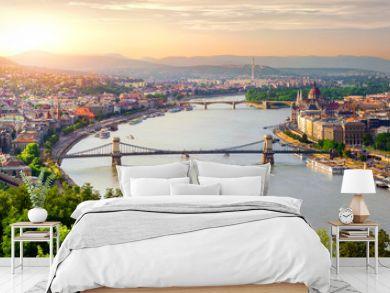 Panorama of summer Budapest
