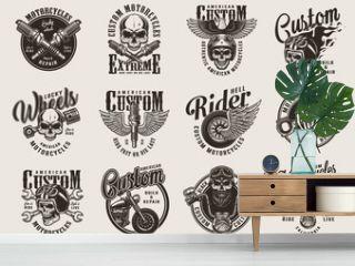 Vintage custom motorcycle badges