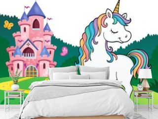 Dreaming unicorn theme image 2