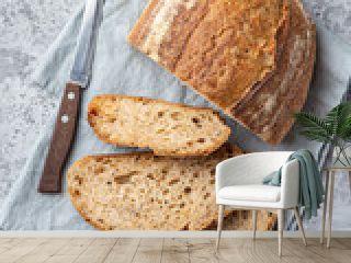 slices of freshly baked homemade sour dough bread