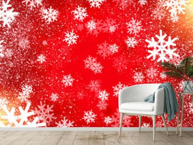 background with beautiful snowflakes for new year and christmas