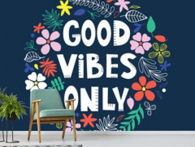 Inspirational poster with floral background