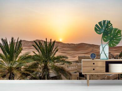 Qasr Al Sarab in Liwa, Al Dhafra, Abu Dhabi, United Arab Emirates at sunset
