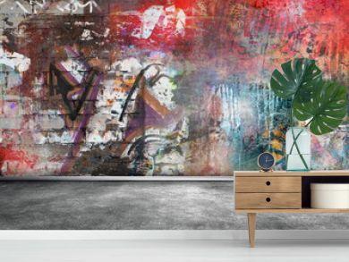 Graffiti wall grunge background