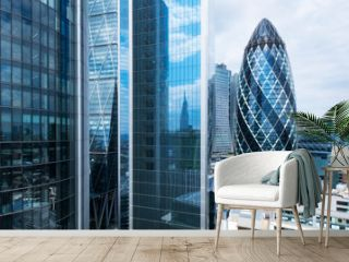London skyline, office buildings in the city financial business district
