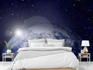Earth in the outer space. Elements of this image furnished by NASA