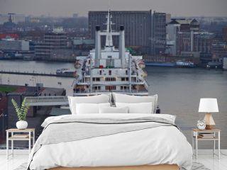 Heck von Hotel Kreuzfahrtschiff SS Rotterdam Holland America Line im Hafen von Rotterdam, Niederlande