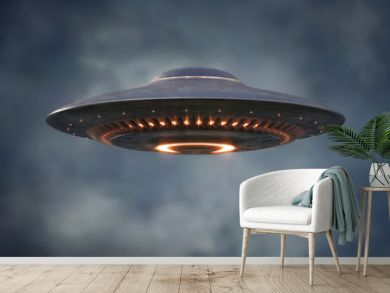 Alien UFO - Unidentified Flying Object - Clipping Path Included