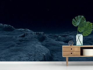 Alien Landscape extremely detailed 3d illustration of an earth like exoplanet enivornment