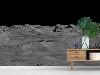 Moon surface, lunar landscape