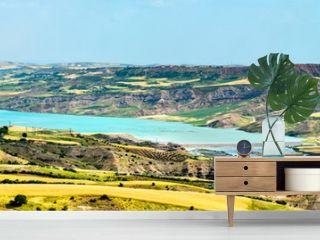 The Ataturk Dam Lake on the Euphrates River in southeastern Turkey