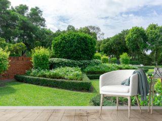 beautiful garden and good care landscape maintenance