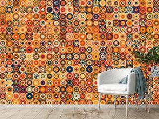 Pattern with random colored Circles Generative Art background illustration