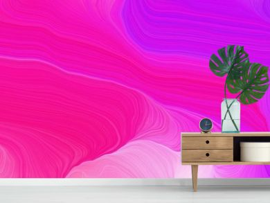 landscape banner with waves. modern waves background design with deep pink, plum and orchid color