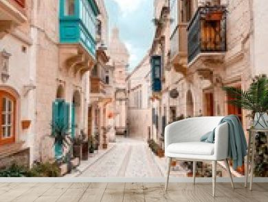 narrow street in Birgu / Malta
