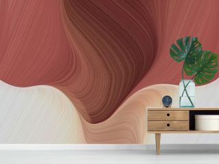 graphic design background with modern waves background illustration with sienna, pastel gray and old mauve color. can be used as card, wallpaper or background texture