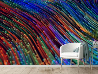 Abstract colorful technology lines big data flow