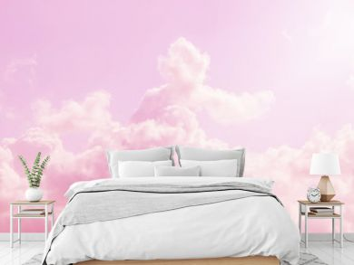pink sky and clouds background