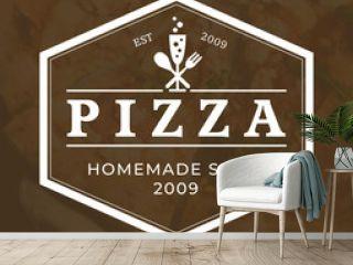italian pizza logo, vector, fast food, delivery, trattoria, bistro, caterin
