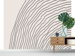 Trendy abstract creative minimalist artistic hand drawn line art composition