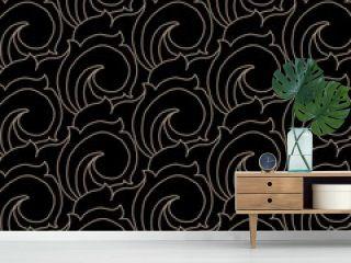 Seamless pattern of batik.  javanese pattern