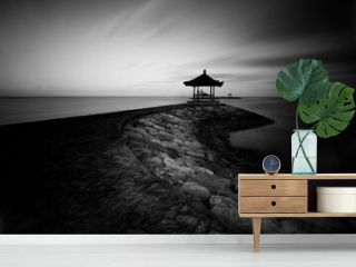 bali in black and white fine art slow speed motion clouds