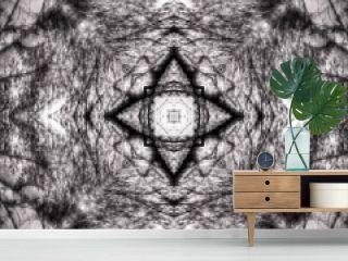 Halftone grey ornament, winter pattern. Drawing vintage style. Grunge texture. Festive greeting card. Abstract art background. Modern symmetric pattern. Festive art backdrop. Creative vector element