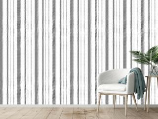 Trendy striped wallpaper. Vintage stripes vector pattern seamless fabric texture. Template stripe wrapping paper.