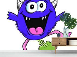 Farting Monster Vector Illustration Art