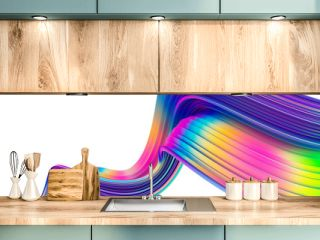 Bright abstract holographic 3D design element for Christmas celebration banners and posters