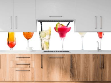 classic cocktails isolated on white