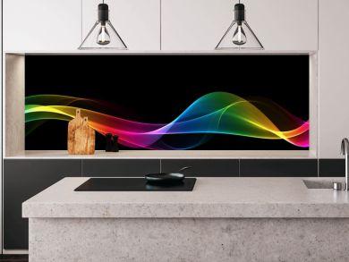 Abstract rainbow light wave futuristic background
