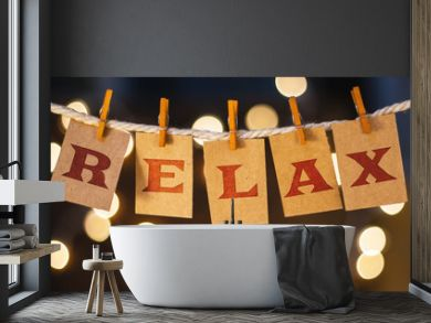 Relax Concept Clipped Cards and Lights