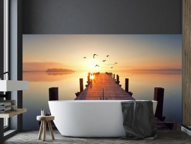 magisches Licht am See
